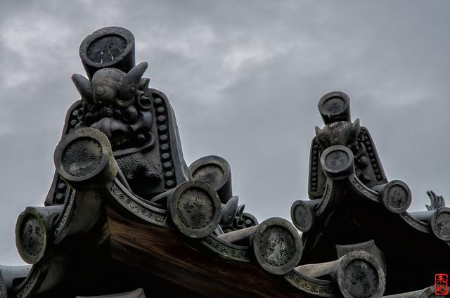 「鬼瓦」 法起寺 - 奈良