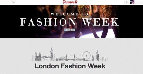 Pinterest London Fashion Week