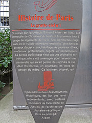 Photo of Édouard Albert grey plaque
