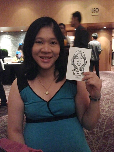 Digital live caricature for NTUC D&D 2013 - 9c