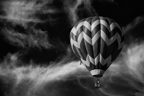 Balloon Fiesta 2013 - B&W Balloon