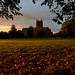 Autumnal sunset at the Crichton, Dumfries by iancowe
