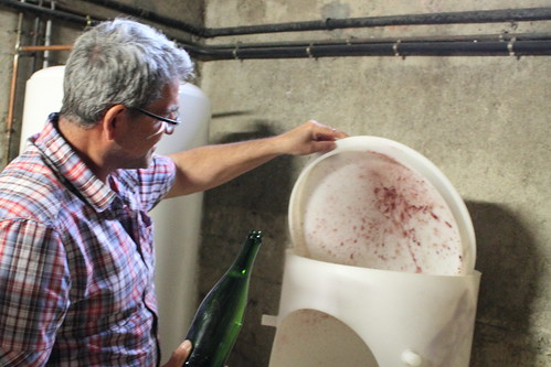 Removal of Yeast from a Champagne Bottle