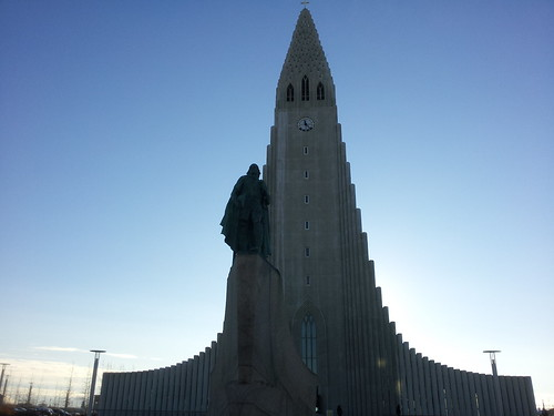 This is the biggest thing in Reykjavik. It's called the Hallgrimskirkja.