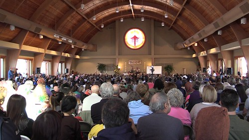 day of mindfulness, ocean of peace hall packed