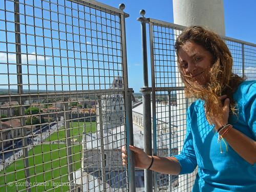 Vistas desde el último piso de la Torre de Pisa