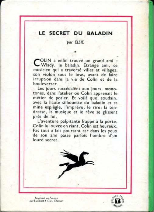 Le secret du baladin, by ELSIE