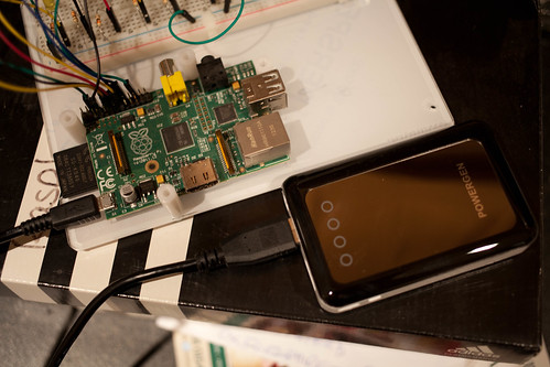 Raspberry PI running on a Powergen Pack