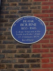 Photo of Frank Bourne blue plaque