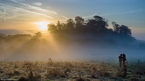 autumn trees sky sun clouds sunrise landscape sony frosty picturesque a77 blinkagain