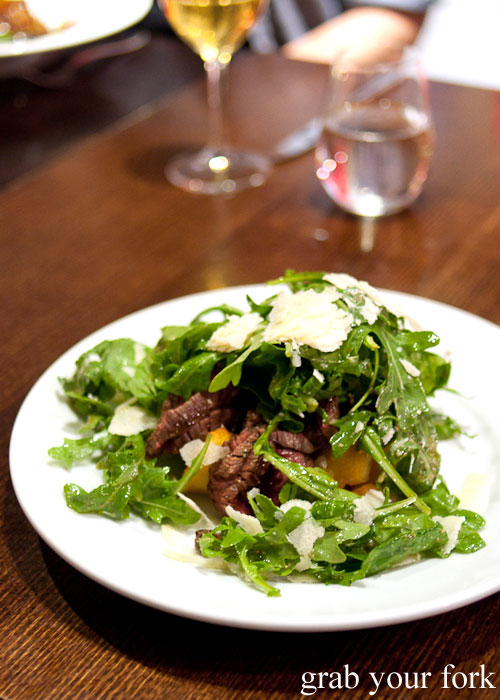 Coorong skirt steak tagliata at Fix St James, Sydney