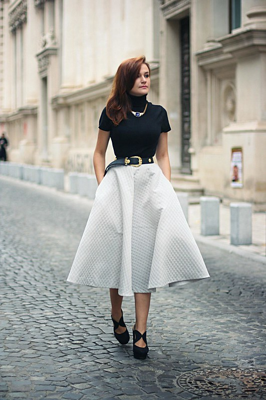 h&m full midi skirt 3