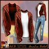 ALB TAY leather jacket christ red by AnaLee Balut - ALB DREAM FASHION