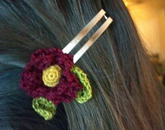Flower barrette