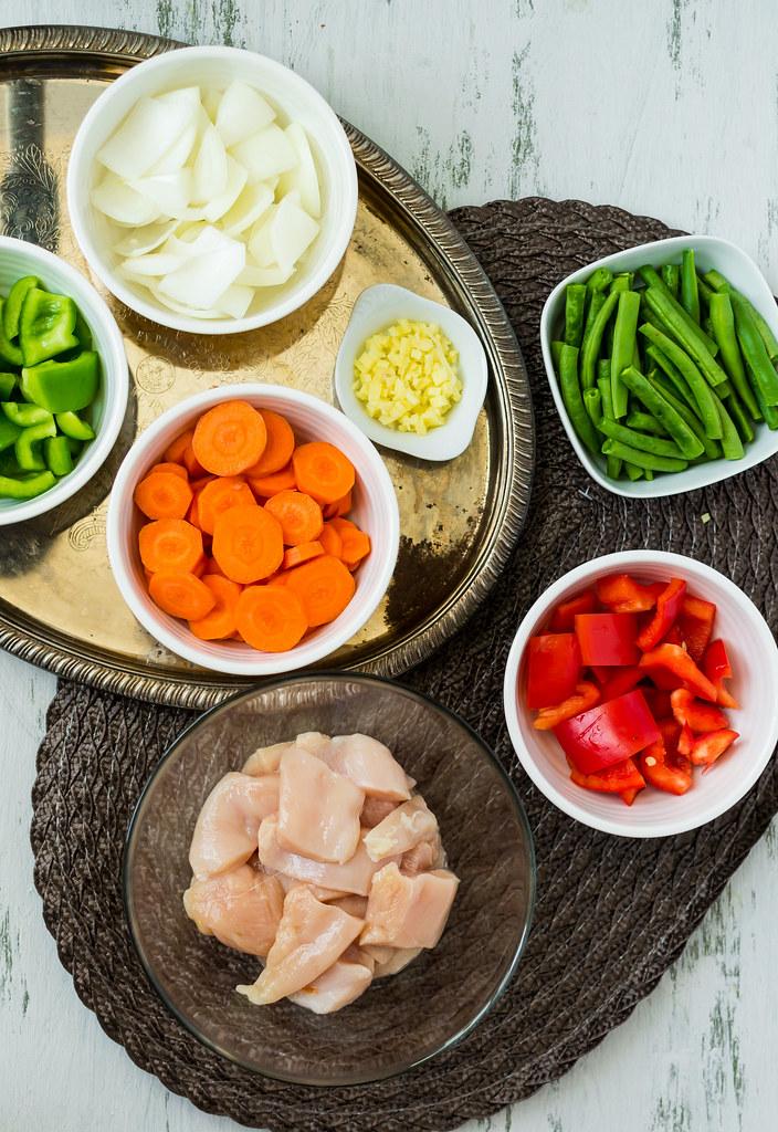 Thai Green Coconut Curry (Pei Wei Inspired) Veggies Spread