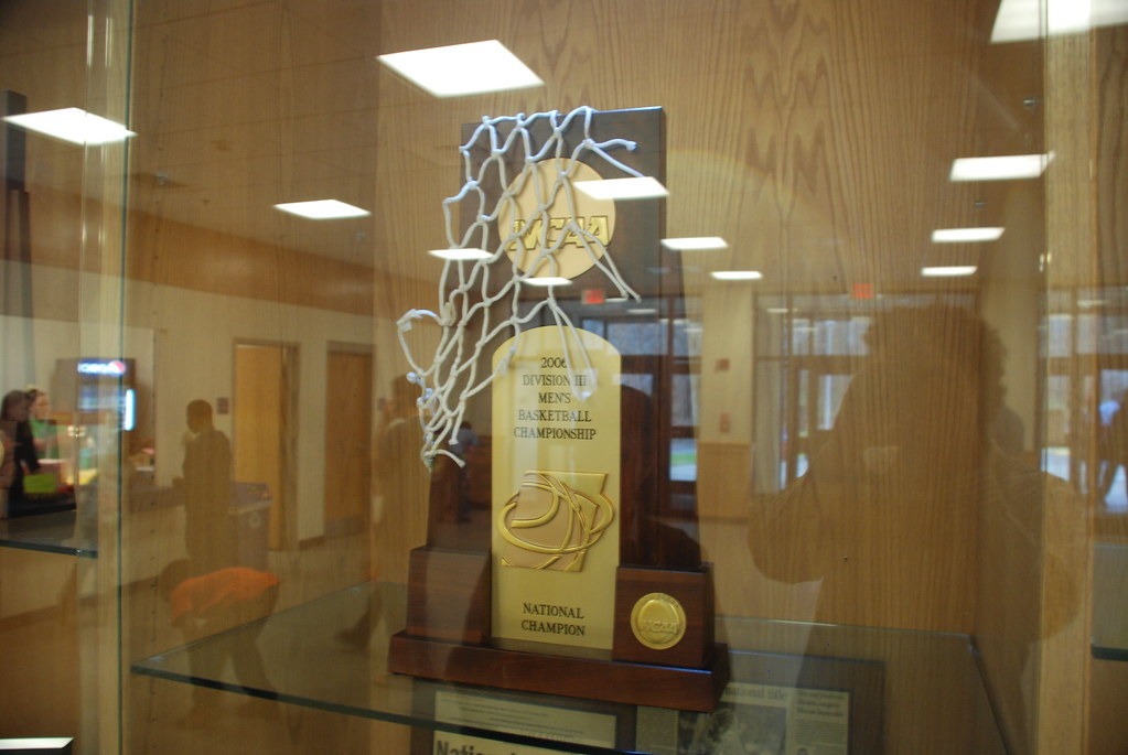 VWC's National Championship trophy (and your intrepid reporter's reflection)
