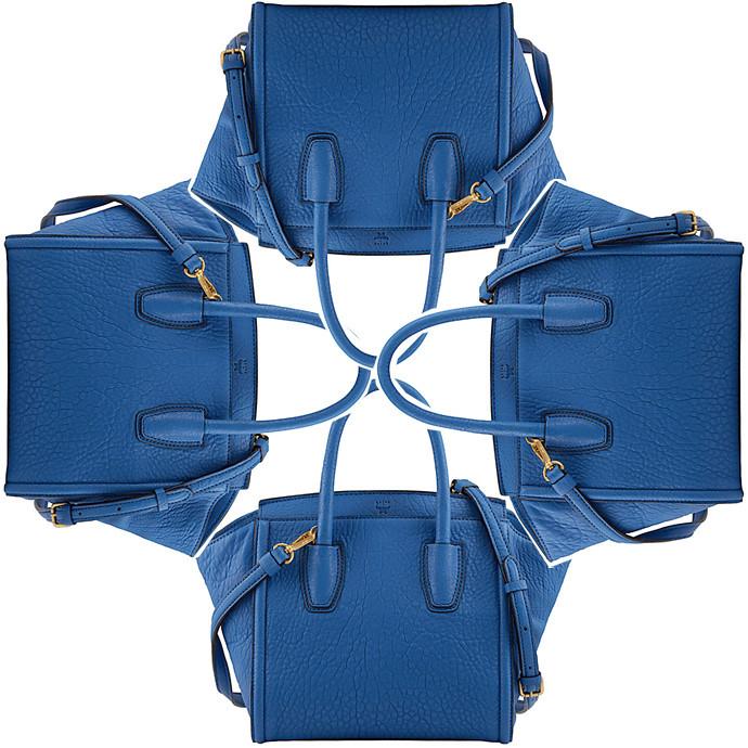 mcm blue tasche