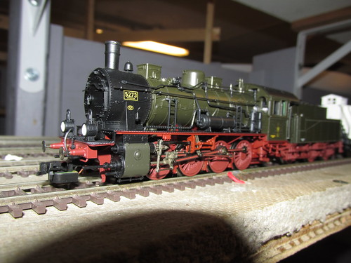 A Fleischman H.O Scale model of a German prototype 0-8-0 steam locomotive. by Eddie from Chicago