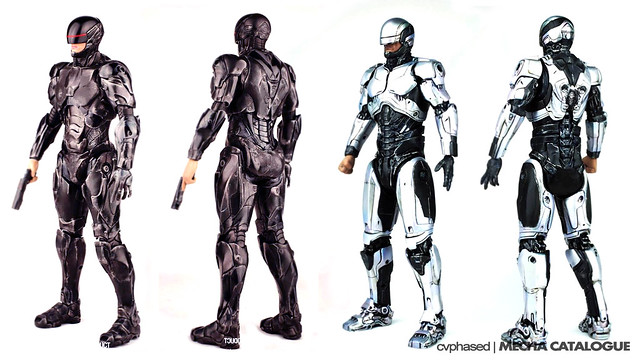 threezero RoboCop 1.0 and 3.0 - Colored Prototype Shots