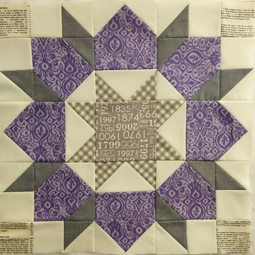 February Stash Bee Block by Heather@QuiltsintheQueue