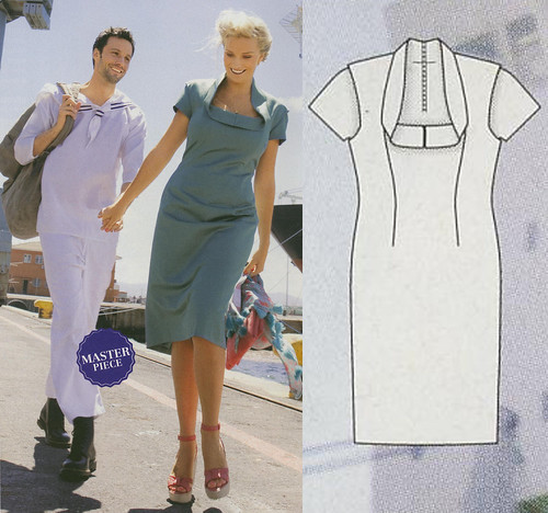 Burda-Plus-2014-SS Weird Collar Dress