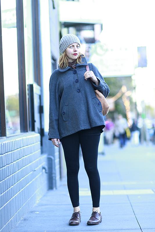 grayswingcoat street style, street fashion, women, Quick Shots, San Francisco, Valencia Street