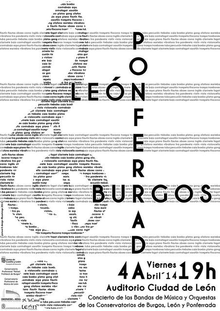 CONCIERTO DE AGRUPACIONES DE LOS CONSERVATORIOS DE BURGOS, LEON Y PONFERRADA - VIERNES 4 DE ABRIL´14 - AUDITORIO CIUDAD DE LEÓN