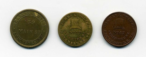 Virginia storecard tokens obverse