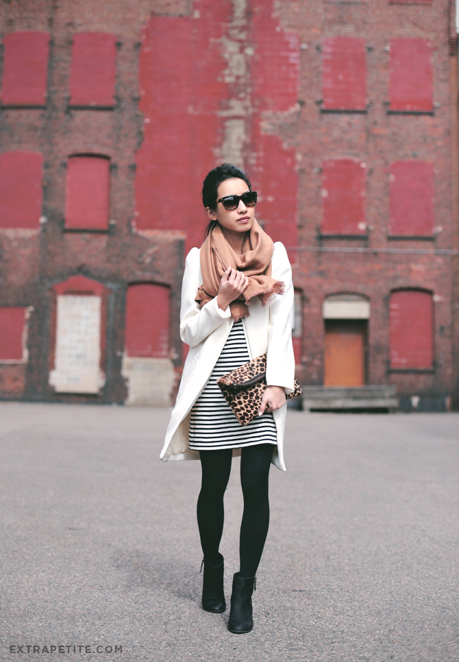 winter white and stripe
