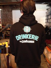 Makin' sweet hoodies for The Drinkerie!
