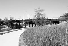 Memorial Drive over Buffalo Bayou, Houston, Texas 1404091150bw
