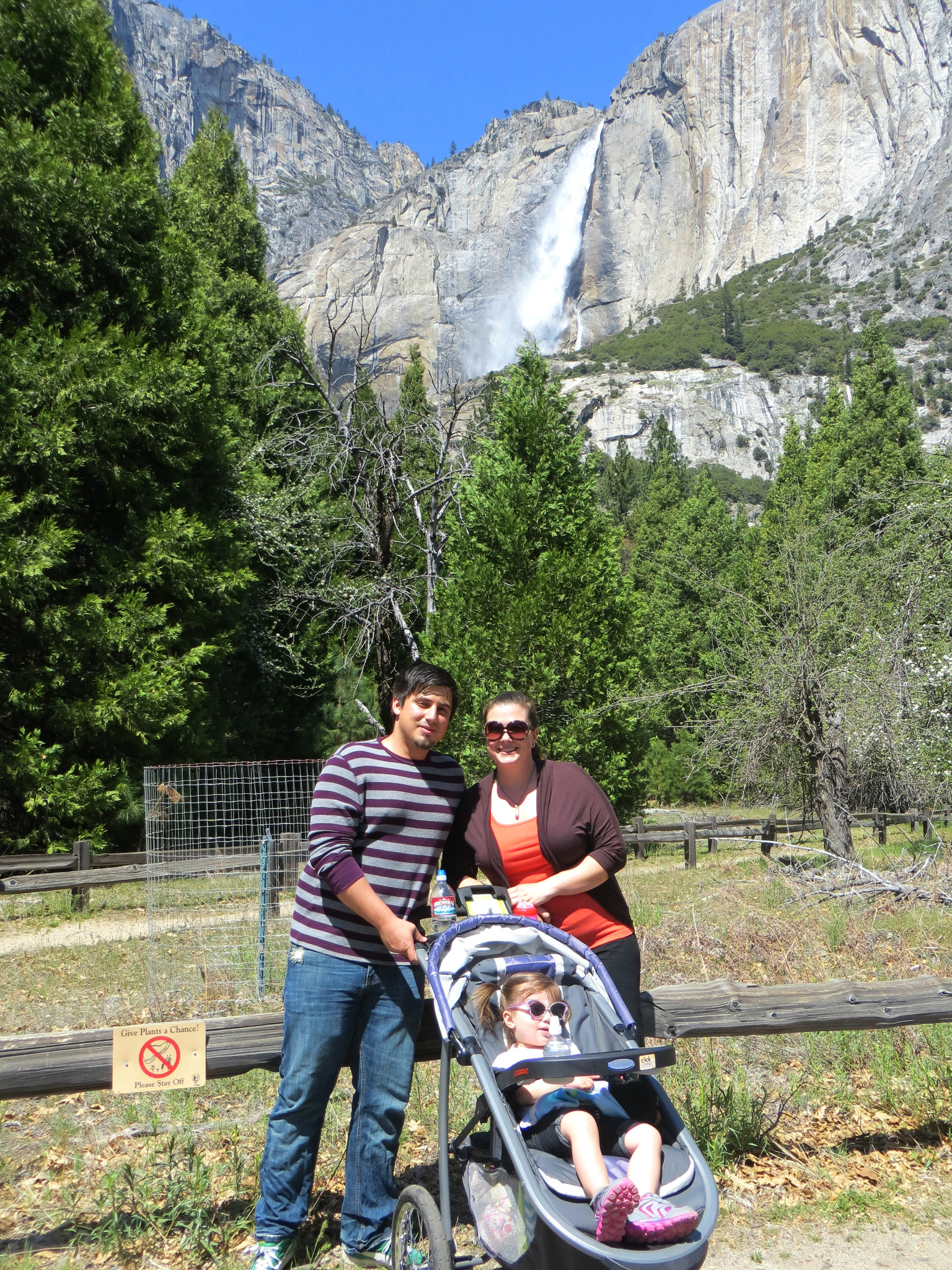Upper Yosemite Falls Family Shot