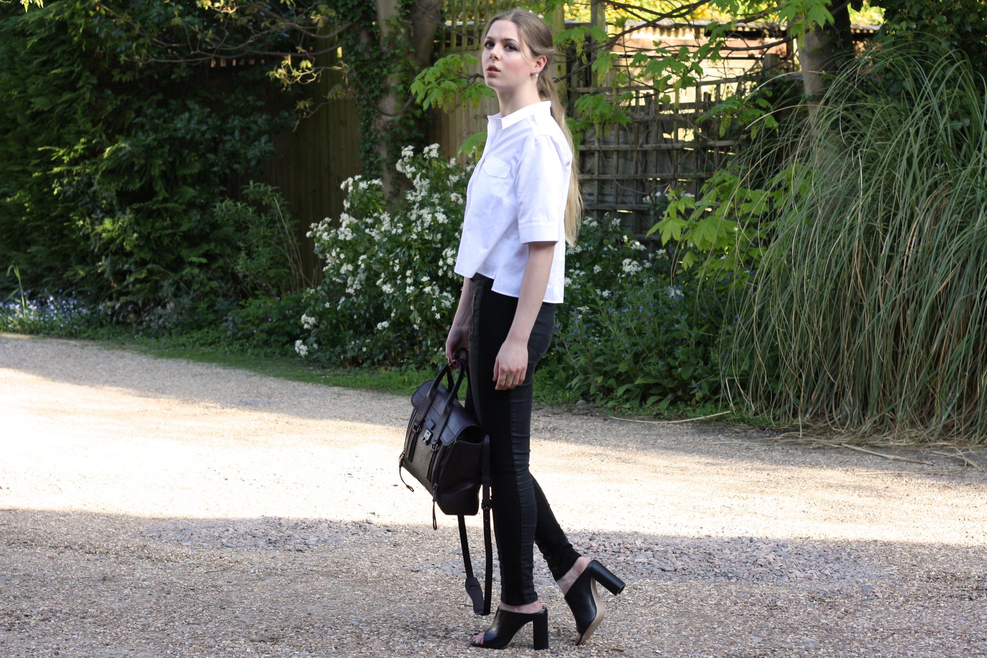 Zara black mules