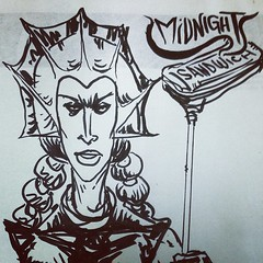 Evil-Lynn knows where to go! #midnightsandwich #miami #comics #heman #event #soon
