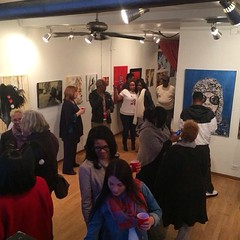 my gallery opening last night was so awesome! #art #love #gallery #painting #opening