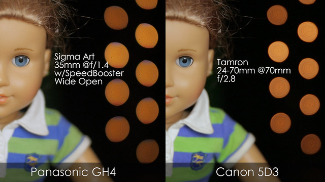 GH4 w/Speedbooster vs Canon 5D Mark III Same Distance