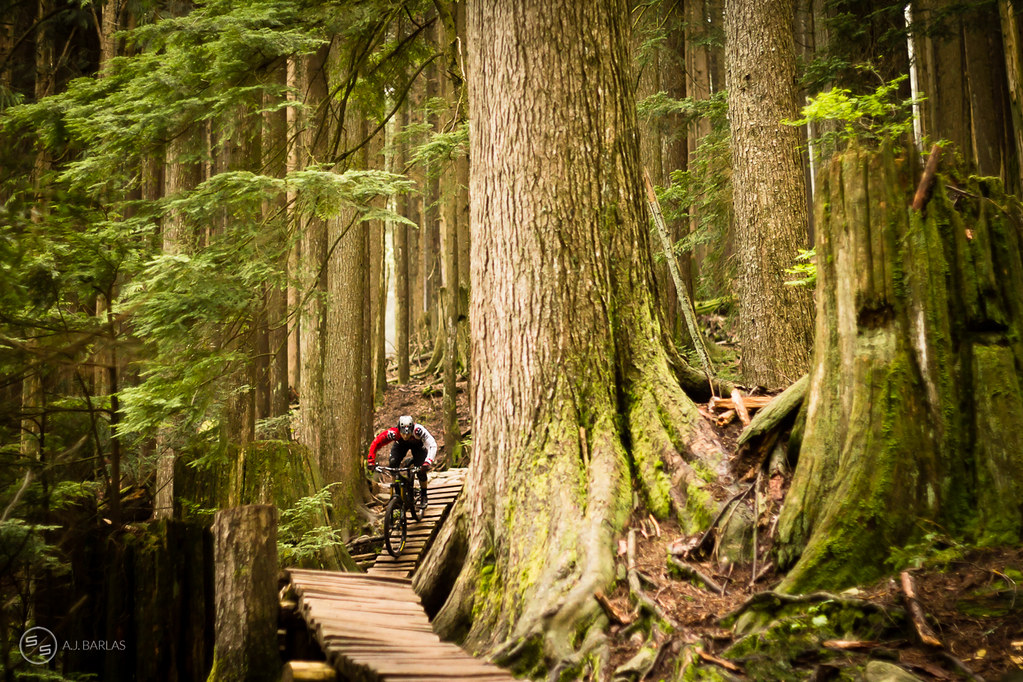 Jesse Melamed on Stage 2 of the North Vancouver enduro