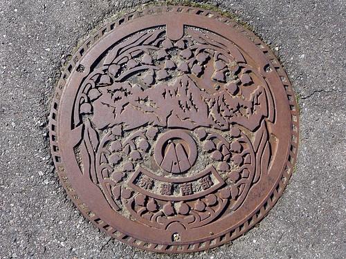 Akaho Komagane Nagano, manholecover (長野県駒ケ根市赤穂のマンホール)