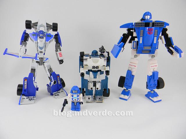 Transformers Mirage Kre-O - modo robot vs otros Mirage