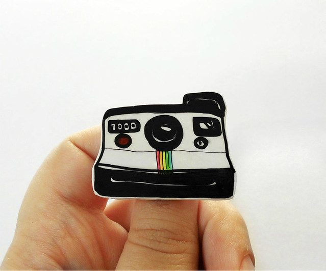 Polaroid plastic brooch 04