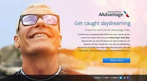 AAdvantage Daydreaming Sweepstakes Screenshot
