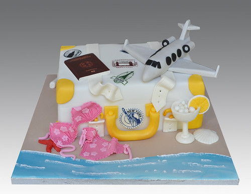 Vacations Luggage Bag Cake