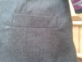 Back Welt pocket on Basic skirt