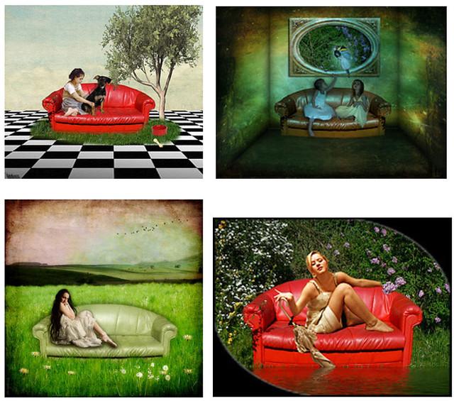 Das Rote Sofa Als Besetzte Zone Flickr Photo Sharing