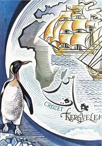 1972; Découverte des îles Crozet et Kerguelen (illustration)