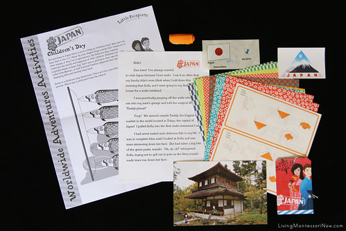 Contents of the Little Passports Japan Package