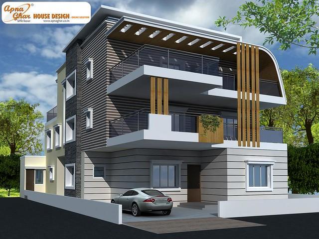Triplex house design flickr photo sharing for Modern triplex house plans