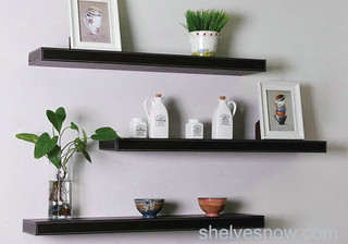 Faux Leather Floating Shelf