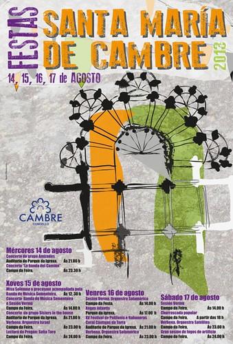 Cambre 2013 - Festas patronais - cartel