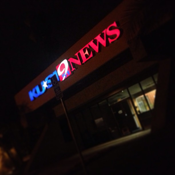 So early! Here at Kusi News for Cruise 4 Kids segment with